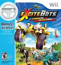 ExciteBots: Trick Racing with WII Wheel WII New Nintendo Wii