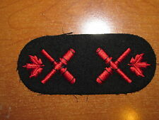 Royal Canadian Navy Trade Collar Badge set Gunner Instructor