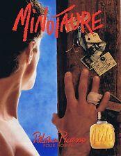 PUBLICITE ADVERTISING 114 1993 PALOMA PICASSO 'Minotaure' pour Homme