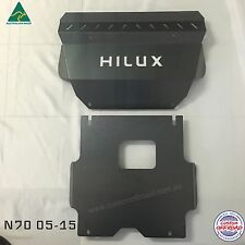 Toyota Hilux Bash Plates 05 - 15 3mm Mild steel - Custom Offroad Now With Wings