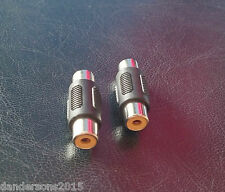 Audio Video Phono Cinch Coupler Female 1 PAIR