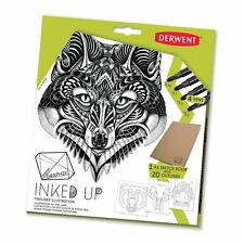 Derwent graphik inked up fineliner stylo illustration set avec contour modèles
