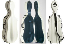 Bobelock 2000W White Fiberglass 4/4 Cello Case w/Wheels