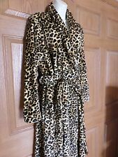 GILLIGAN & O'MALLEY WOMENS MISSES ANIMAL PRINT ROBE SOFT SIZE MEDIUM LARGE M/L