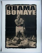 "EMEK XL ""Obama Bomaye"" 2008 Pre-Election Silkscreen with Hillary Clinton"