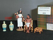 KING AND COUNTRY AE22 ANCIENT EGYPTIANS EGYPT BANQUET GUESTS METAL FIGURE SET 2