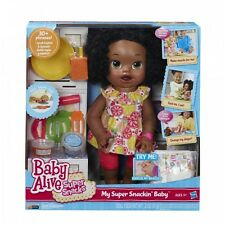 Baby Alive Doll Baby Alive Super Snacks Snackin' Sara African American  Movin...