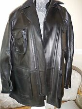 nwt $7,750 Burberry Prorsum RUNWAY LEATHER HUNTING jacket  .