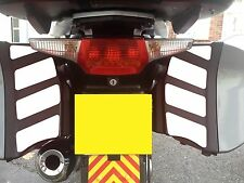 WHITE REFLECTIVE PANNIER SAFETY CHEVRONS BMW R1200RT K1200GT K1300GT STICKERS