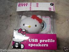 NEW Genuine Hello Kitty USB Profile speakers High Quality Stereo Sound 78609