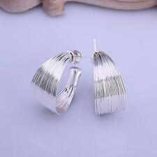 women fashion jewelry 925 Sterling Silver filled earrings charm ear stud E005