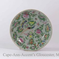 Late 19th.c Chinese Famille Rose Celadon Plate Marked