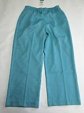 Womens ALFRED DUNNER Blue Casual Loose Pants Sz 16 NEW NWT