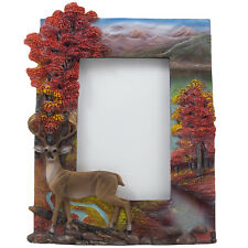 Big Buck Deer Picture Frame for 4x6 Photo Fall Lodge & Hunting Cabin Decor Gifts