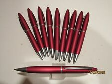 Lot of 10 Terzetti Carramia Matte Red Metal Ballpoint Pen- Great Deal