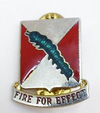RARE US ARMY 51ST AIR DEF ARTILLERY UNIT INSIGNIA DUI - FIRE FOR EFFECT VIETNAM