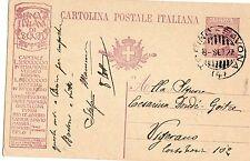 INTERO  POSTALE   BANCA  ITALIANA  DI  SCONTO  TASSELLO   PUBBLICITARIO  25 CM