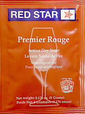 Red Star Premier Rouge Wine Yeast, 5g - 2-Pack