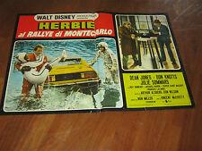 FOTOBUSTA,1977,Herbie al rallye Montecarlo,Goes to,DISNEY,MAGGIOLINO,AUTO,Lancia