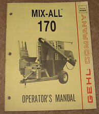 GEHL Company Mix-All 170 Operator's Manual