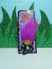"HALLOWEEN SKELETON  PIN  - 1 1/4"" Russ Troll - NEW ON CARD - Last One"