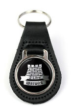Triumph Warwrick 2Ltr Logo Quality Black Leather Keyring