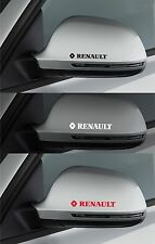 For RENAULT - 2 x Wing Mirror VINYL CAR DECAL STICKER ADHESIVE - CLIO 100mm long