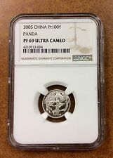 {BJSTAMPS}  2005 China 1/10 oz Platinum Proof Panda NGC PF69 uc