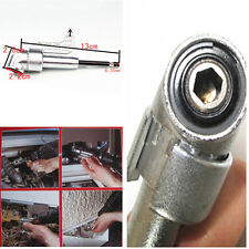 "1/4"" Magnetic Angle Bit Driver Adapter Screwdriver 360° Adjustable Thumb Flange"