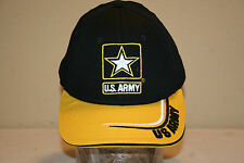 U.S. ARMY Hat Yellow & Black Goarmy.com One Size Fits All Adjustable MADE IN USA