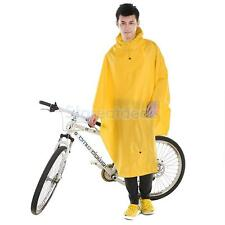 Waterproof Bike Outdoor Cycling Raincoat Hooded Rain Cape Poncho Coat Jacket