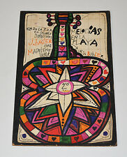 1968 Original Cuban Movie Painting MOCK UP.Guitar.Beach.Unique Art Piece.Music