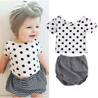 2Pcs Newborn Infant Baby Girls Kids T-shirt TEE Tops + Pants Clothes Outfits Set
