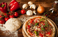 Framed Print - Still Life Pizza and Ingredients (Picture Poster Italian Food)