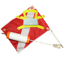 Foam Dive Float with 14x18 Nylon Dive Flag, and 100FT White Nylon Line