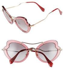 Miu Miu SMU 11R Scenique Butterfly Sunglasses in Bordeaux