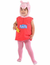 Chicas ROSA Peppa Pig Fancy Dress Costume 2/4 Años Peluche Libro día Semana Tv