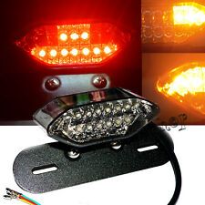 1X 12V LED Motorcycle Turn Signal Brake License Plate Intergrated Tail LIGHT
