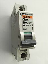 MERLIN GERIN MULTI 9 C60H 10A TYPE 2 240/415V M9 BS3871 25588 10AMP SINGLE POLE