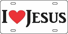 I love Jesus Aluminum License Plate Car Tag Auto God Christianity Heart Bible
