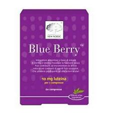 BLUE BERRY 120 CPR ESTRATTO DI MIRTILLO E LUTEINA NATURALE NEW NORDIC