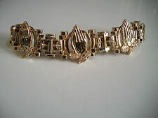 Gold finish hip hop  stone designer  bling Praying Hand style fashion bracelet