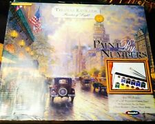 Paint By Number THOMAS KINKADE NEW YORK STREET Canvas Please read description