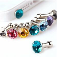 10 Diamond 3.5mm Earphone Jack Anti Dust Plug Cap Stopper For iPhone Samsung