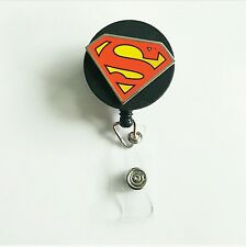 New Superman decorated badge reel handmade ID holder name tag Unisex lanyard