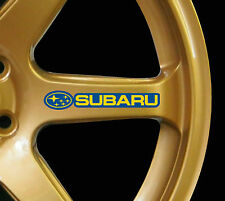 Subaru Impreza WRX STI 8 x logo decal graphics stickers for alloy wheels yelblue