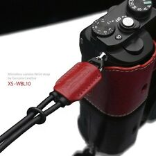 GARIZ Leather Wrist Strap Red XS-WBL10 for Sony A7 A7R