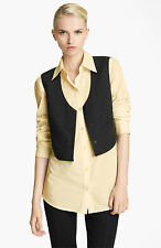 DONNA KARAN Collection:  Paper Cotton Shirt with Attached Vest MSRP $750