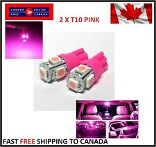 2X T10 Pink 194 168 2825 5050 5SMD LED Bright Car Lights Lamp Bulb Peanut HID