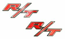 2pcs  Chrome RT R/T Emblems for Cars Trucks Suv's  Red type
